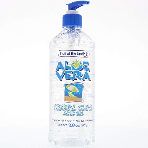 - Fruit of the Earth Aloe Vera Crystal Clear Aloe Gel,20 oz (Pack of 2)
