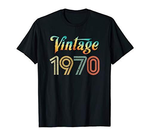 Vintage 1970 T Shirt Best Year 1970 Original Genuine Classic