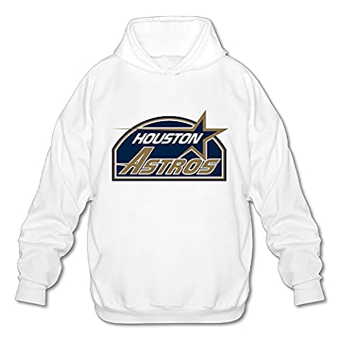Wesley Star Astros Men's Soft Hooded Sweatshirt White L