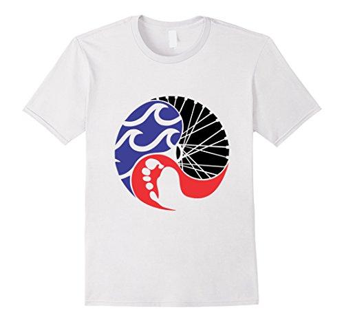 Mens Funny Triathlon shirt for men, women and kids Large White Triathlon Gear Clothing