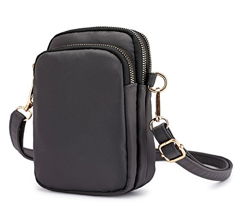 Collsants Phone Nylon Wallet Pouch Mini Clip Purse Smartphone Bag Grey Crossbody Cell Belt rqfxR4r5