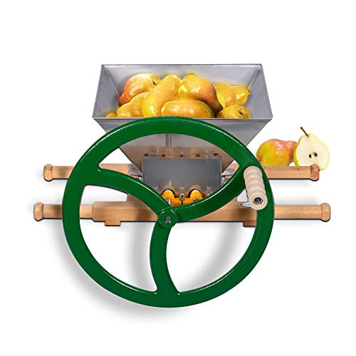 Fruit & Apple Crusher for Wine & Cider Pressing - Manual Juicer Grinder & Fruit Scatter - Heavy Duty Stainless Steel Cutting Blades & Hopper - By Green Max Products by Montimax By Green Max Products (Image #5)