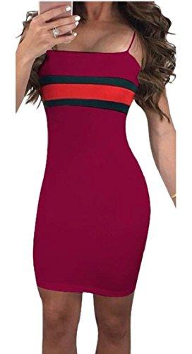 Strap Sexy 5 Womens Bodycon Jaycargogo Spaghetti Dress Club Mini 5AZtqPwnPO