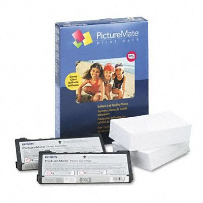 EPSON paper picturemate print pack photo glossy 4x6 270-sheet w/two ink cartridges (Epson Picturemate T5570 Ink)