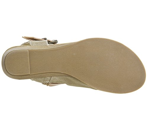 Canvas beige Damen Desert Blowfish Cut Dye Sand Balla Sandalen AYR6Awxfq