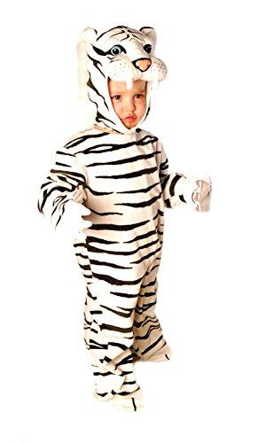 Baby Boys - White Plush Tiger Toddler Costume 6-12 Mnths ()