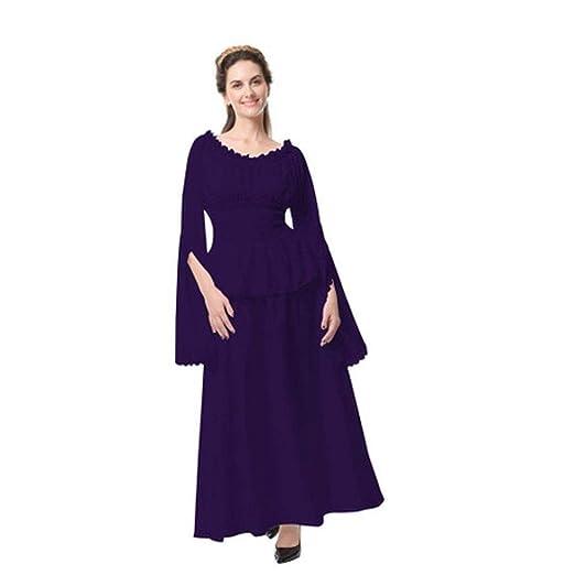 YyiHan Cosplay Disfraz, Vestido Medieval renacentista Femenino de ...