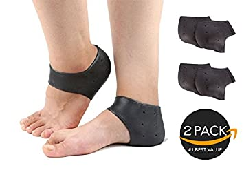 Amazon com: Chanan 2 Pair Heel break Heel Sleeves Silicone
