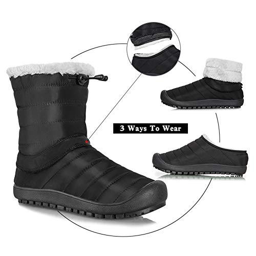 Winterschuhe Damen Schwarz Boots On High Knöchelhoch Komfort Winter Herren Iceunicorn Outdoor Top Slip Stiefel Schneestiefel xwEAEqCS