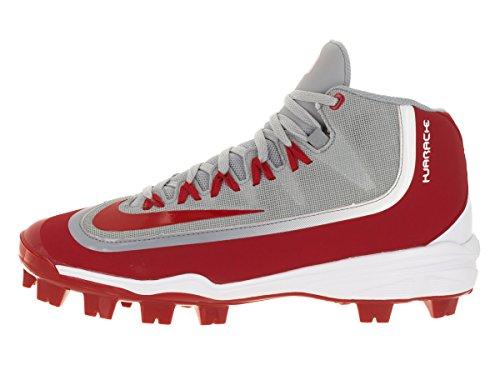 Nike Huarache 2kfilth Hommes Pro Crampon Baseball Gris Loup / Blanc / Rouge Université