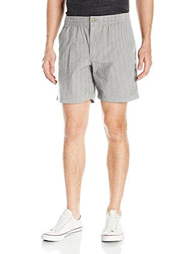 Dockers Men's Straight Fit Weekend Cruiser Short, Ventura Burma Grey, Large Cotton Seersucker Trousers