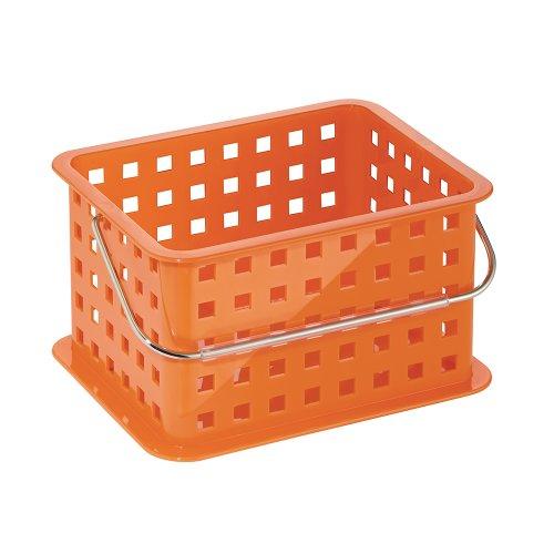 Orange Basket - InterDesign Storage Organizer Basket, for Bathroom, Health and Beauty Products - Small, Orange