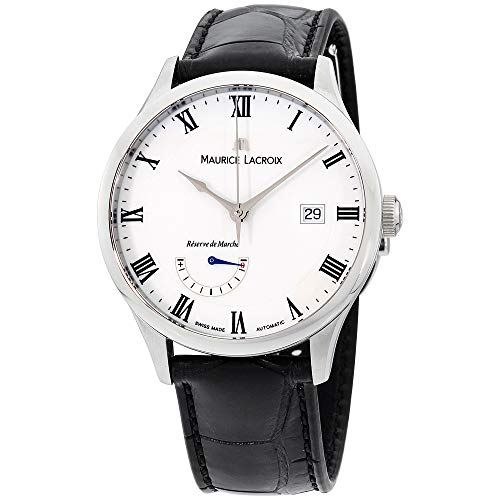 Maurice Lacroix White Dial Leather Strap Men's Watch MP6807-SS001-112-1