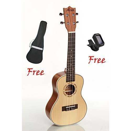 Zimo Soprano Ukelele 4 String Guitar Uku Hawaii Guitar (MU0050BR) by Zimo