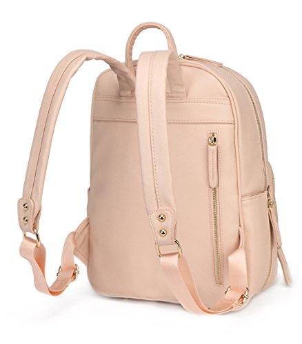 Emb Fashion piel sintética bolsa mochila multifunción de la cambiador de bebé con cambiador verde verde rosa
