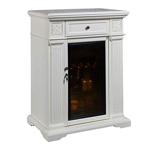 Wine Cellar -Thermostat Wine Cabinet Retro refrigerator Refrigerated storage cabinet Solid wood wine cabinet…