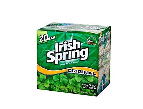 Deodorant Original Total Body (Irish Spring Original Bar Soap 8 - 20 Bars per Pack = 160 Bars Total)