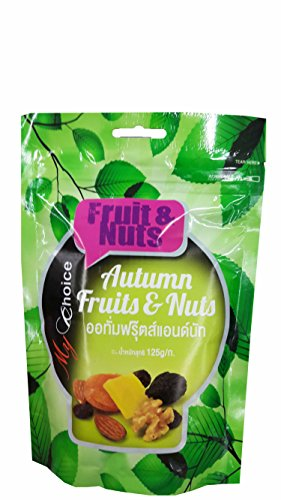 2 packs of Autumn Fruits and Nuts, Delicious Snack from My Choice Brand. (125 g/ pack) (Care Package For My Boyfriend)