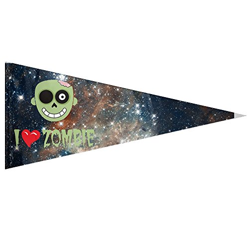 I Love Zombie Ice Melt Home House Garden Flags Decoration Triangle Flags