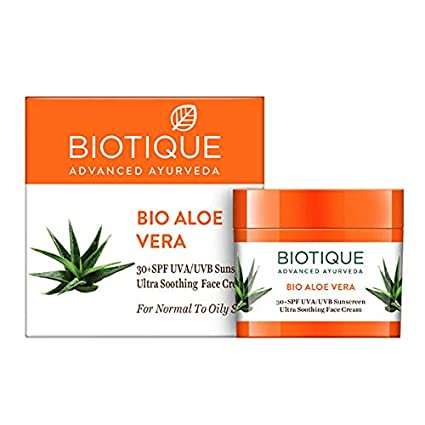 Картинки по запросу BIO ALOE VERA 30+ SPF SUNSCREEN CREAM FOR NORMAL TO OILY SKIN