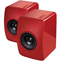 KEF LS50 Mini Monitor Bookshelf Speakers (Racing Red)
