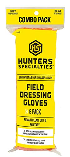 - Hunters Specialties Field Dressing Gloves Combo, 6-Pack