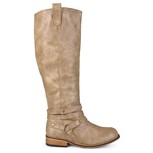 Brinley Co Women's Bailey Riding Boot, Taupe, 7 M US