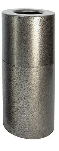 Witt Industries AL18-SVN Aluminum 24-Gallon Decorative Trash Can with Rigid Plastic Liner, Round, 15