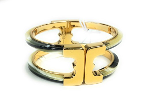 - Tory Burch Gemini Hinge Resin Cuff Bracelet Bangle