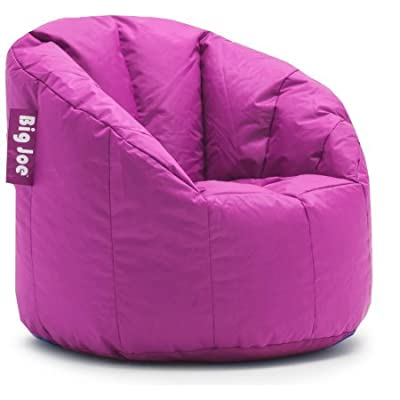 Big Joe Milano Bean Bag Chair | Filled with UltimaX Beans | Soft but Firm Support (Fuchsia Supreme)