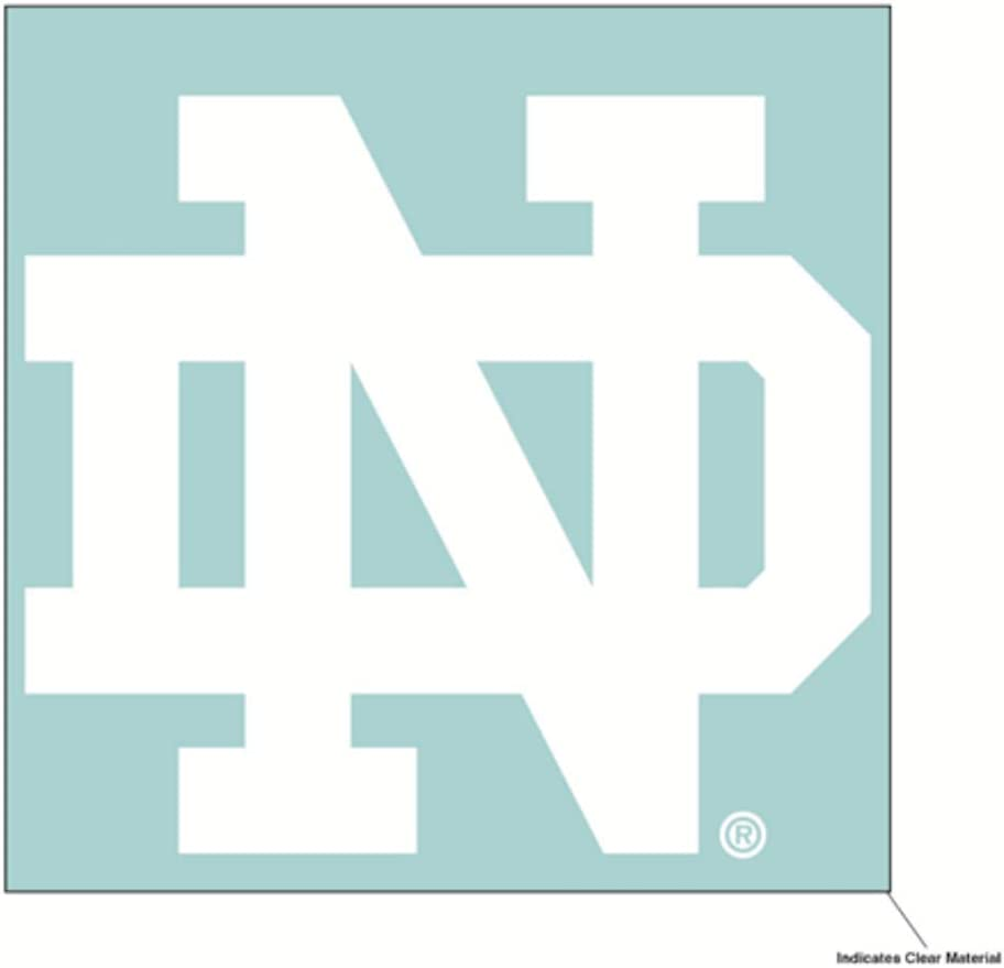 WinCraft NCAA University of Notre Dame Fighting Irish 6 x 6 inch White Decal