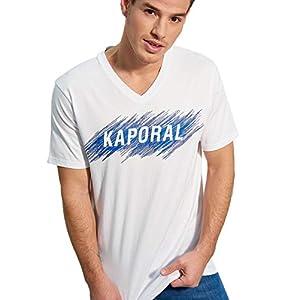 Kaporal – T-Shirt Inscription en Relief, Coupe Droite – Mass – Homme
