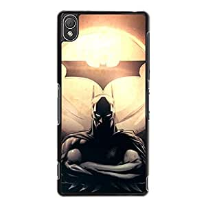 Creative Design Batman Hard Plastic Shell Cover with Batman Film Snap on Sony Xperia Z3