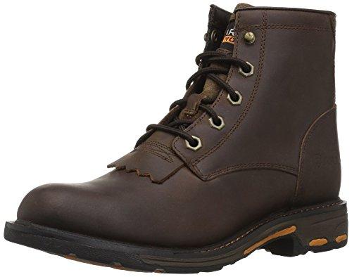 Ariat Unisex Workhog Lacer Western Boot, Brown, 4 M US Big Kid