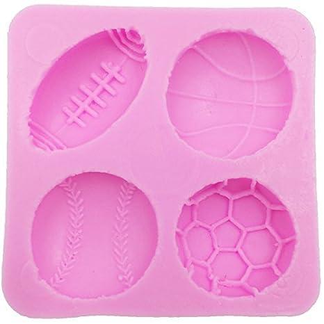 musykrafties 4 orificios BOLAS Molde de silicona para modelado azúcar,decoración tartas,Adorno Pasteles