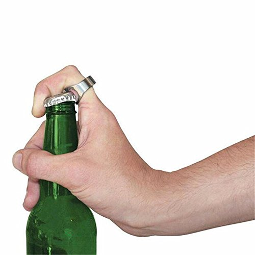 JD Million shop 1pcs Silver Color Ring Bottle Opener Stainless Steel Finger Ring Bottle Opener Beer Bar Tool abridor de garrafa cerveja