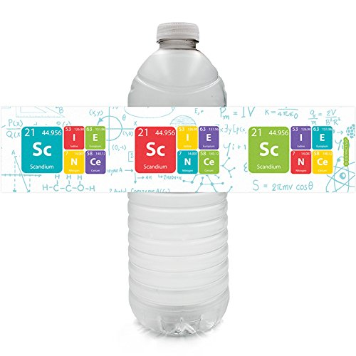 Science Party Favor Decoration Water Bottle Labels | 24 Stickers
