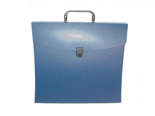 Aurora GB File N Go Portable File Folder with Handle/Latch and 6 Dividers, Blue, 13 5/8 in. L x 3 in. W x 12 1/8 in. H (AUA10112) (Aurora Products File)