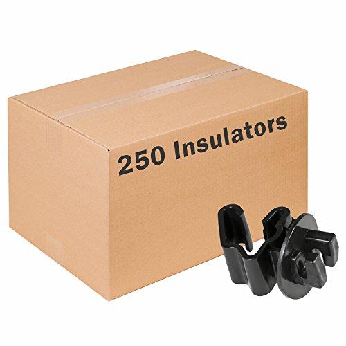 (Zareba Systems ITB-Z Black Standard Snug-Fitting T-Post Insulator (250 Pack))