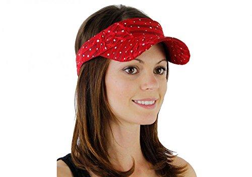 Red_ 100% Polyester Glitter Visor Hat (US - Beverly Hills Macys