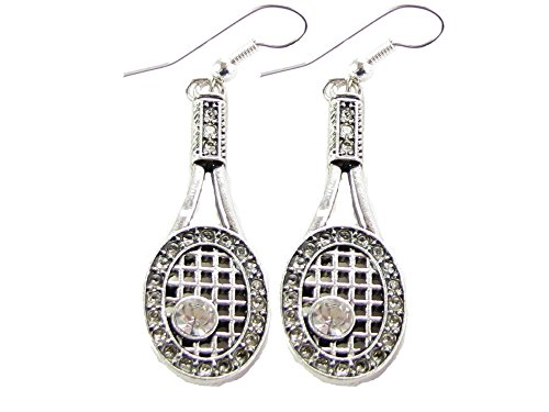 Tennis Racquet & Ball Earrings