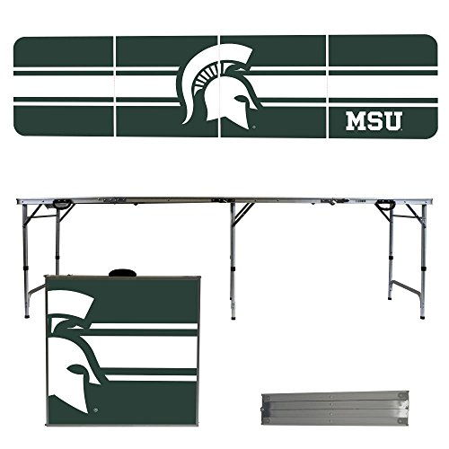 NCAA Michigan State University Spartans Stripe Version 8-Feet Folding Tailgate Table by Victory Tailgate