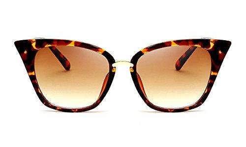 60s Vintage Cat Eye Sunglasses for Women Pointed Square Frame Gradient Lens (Tortoise/Brown, - Wear Sunglasses Tints