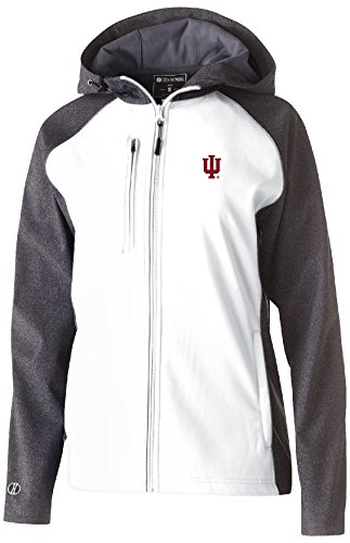 Ouray Sportswear NCAA Indiana Hoosiers Women's Raider Soft Shell Jacket, X-Large, Carbon Print/White (Indiana Hoosiers Fan)