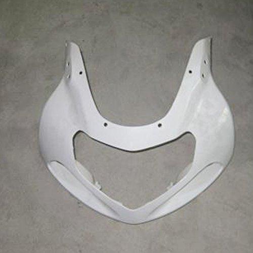 (ZXMOTO Motorcycle Front Upper Cowl nose fairing for Suzuki GSXR 1000 2001 2002 (Unpainted, ABS Plastic))