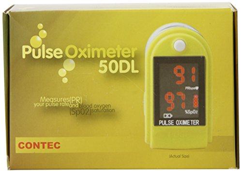 Contec CMS 50DL Finger Pulse Oximeter, Yellow