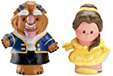 Fisher-Price Little People Disney Princess Belle and Beast Figures