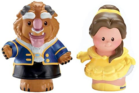 Fisher-Price Little People Disney Princess Belle and Beast Figures (Belle And The Beast Little People)
