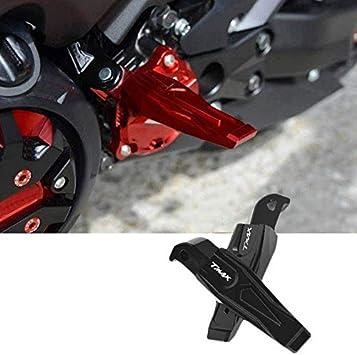 REFURBISHHOUSE Pedale per Moto in Lega di Alluminio CNC Supporto per Pedale per Yamaha Tmax530 Tmax500 Xp500 Accessori per La Modifica del Motociclo Rosso