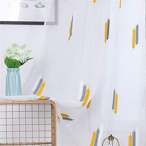 - Beyonds Sheer Curtains Panels for Livingroom - ♥ Breathable Window Kitchen Shower Curtain 79x39 inch, Grain Ventilation Insulation Voile Treatment Patio Door Drapes